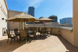 Watermark condos rooftop patio